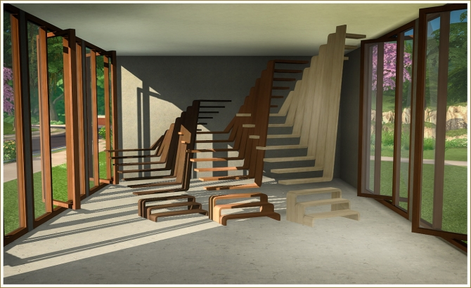 Stairs sims 4 updates best ts4 cc downloads for Window design 4 by 4