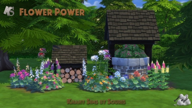 Flower power by souris at khany sims sims 4 updates for Indoor gardening sims 4