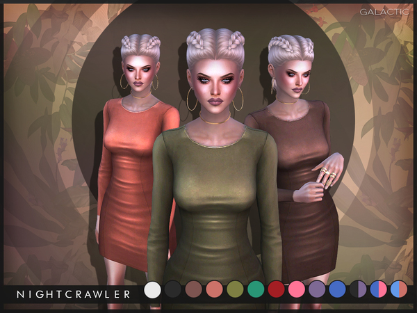 Sims 4 Galactic Dress by Nightcrawler at TSR