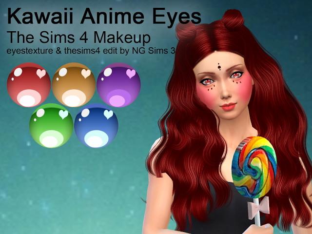 Sims 4 Kawaii Anime Eyes at NG Sims3