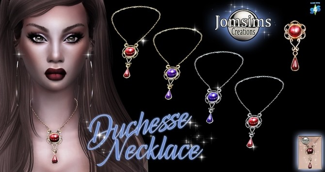 Duchess necklace at Jomsims Creations image 3015 670x355 Sims 4 Updates