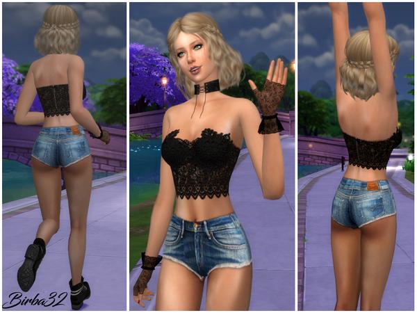 Sims 4 Denim shorts by Birba32 at TSR