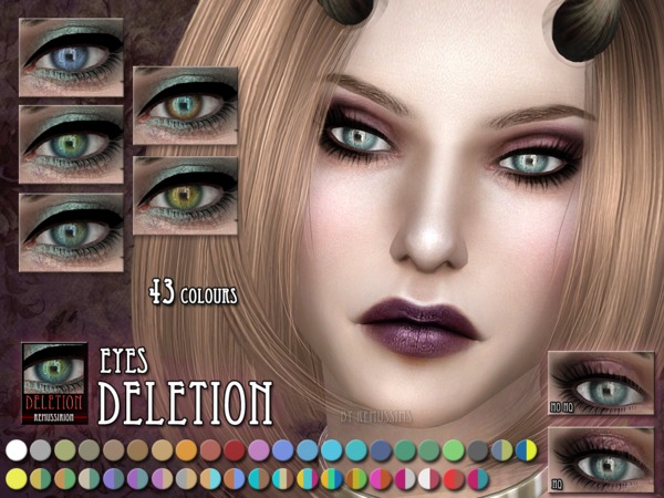 Deletion Eyes by RemusSirion at TSR image 3313 Sims 4 Updates