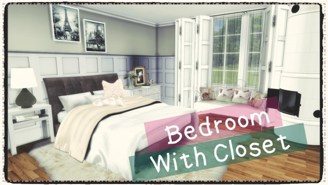 Sims 4 Bedroom with closet (Build & Decoration) at Dinha Gamer