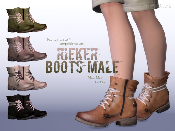 Rieker Boots Normal+HQ Compatible M by Ms Blue at TSR image 3412 Sims 4 Updates