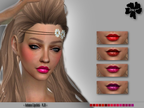 IMF Autumn Lipstick N.31 by IzzieMcFire at TSR image 3518 Sims 4 Updates