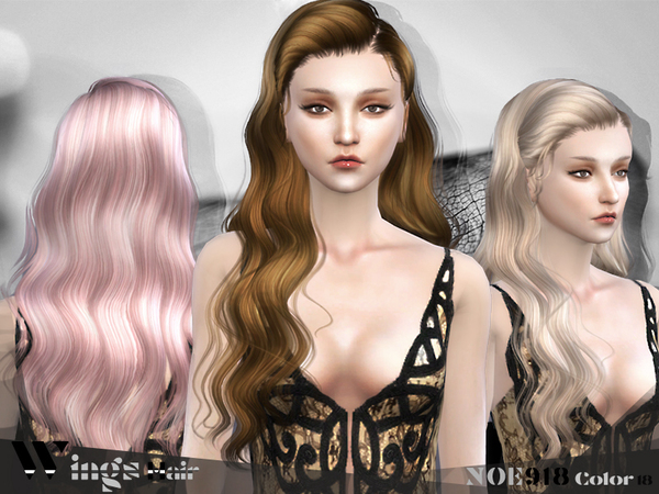 HAIR NOE918 F by WINGSIMS at TSR image 3618 Sims 4 Updates