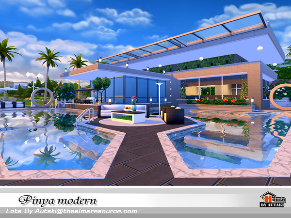 Pinya Modern house by autaki at TSR image 3713 Sims 4 Updates