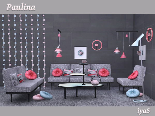 Sims 4 Paulina ultra modern set for living by soloriya at TSR