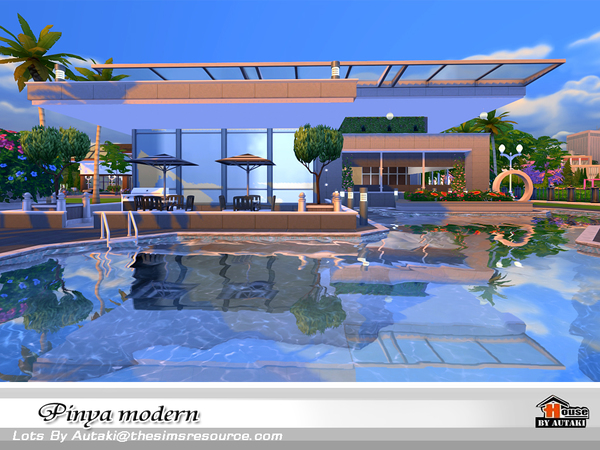 Pinya Modern house by autaki at TSR image 3812 Sims 4 Updates