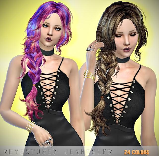 Newsea Moonrise Hair retexture at Jenni Sims image 385 Sims 4 Updates