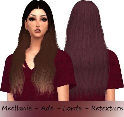 Sims 4 Ade Lorde Hair Retexture at Meellanie
