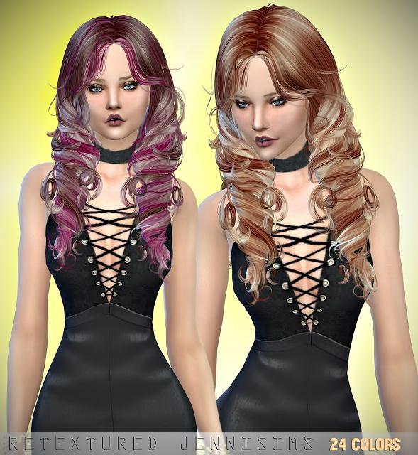 Sims 4 Newsea Yara Hair retexture at Jenni Sims