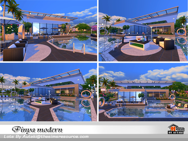 Pinya Modern house by autaki at TSR image 3913 Sims 4 Updates