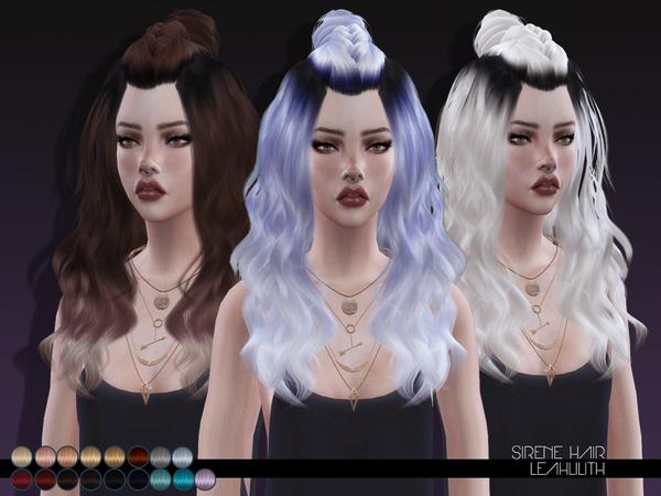 Sims 4 Siren Hair by Leah Lillith at TSR
