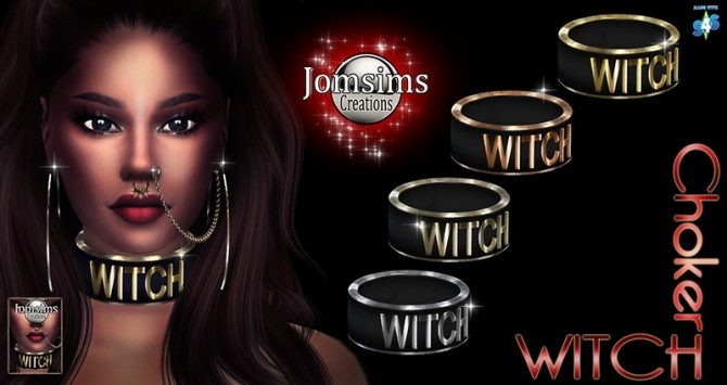 Sims 4 Witch choker at Jomsims Creations