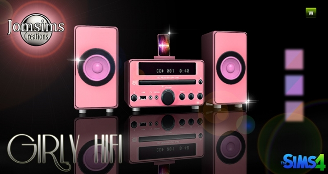 Girly Hifi Stereo At Jomsims Creations 187 Sims 4 Updates