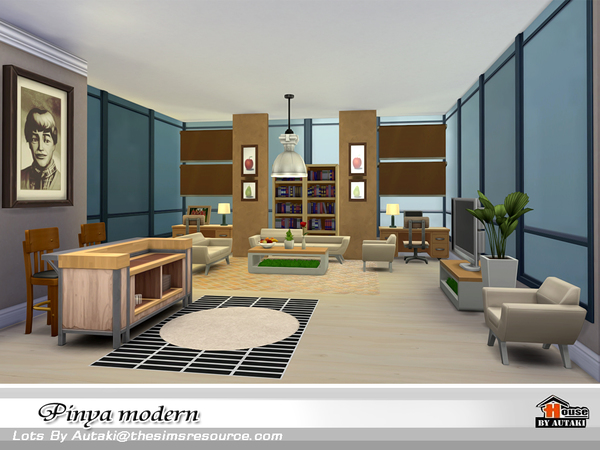 Pinya Modern house by autaki at TSR image 4013 Sims 4 Updates