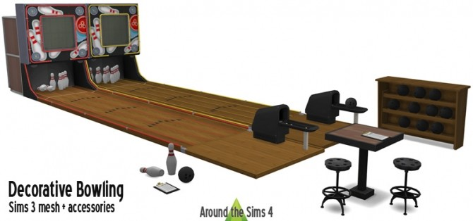 Sims 4 Bowling decor at Around the Sims 4