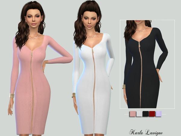 Sims 4 Aurela Dress by Karla Lavigne at TSR