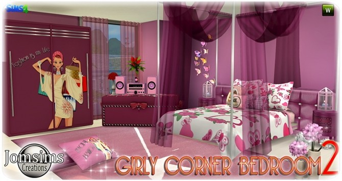 Girly Corner Bedroom 2 At Jomsims Creations 187 Sims 4 Updates