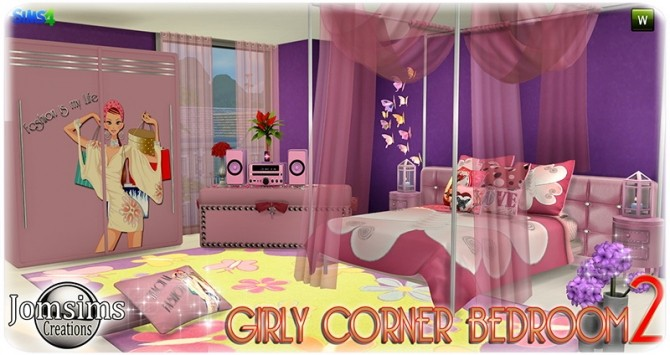 Girly Corner Bedroom 2 At Jomsims Creations Sims 4 Updates