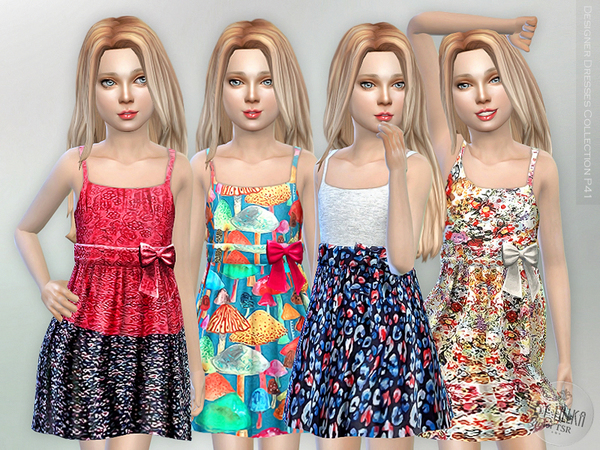 Designer Dresses Collection P41 by lillka at TSR image 43 Sims 4 Updates