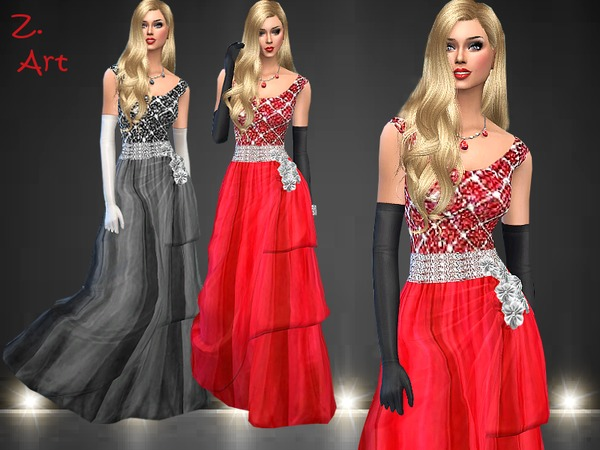 Elaborately crafted gown by Zuckerschnute20 at TSR image 4418 Sims 4 Updates