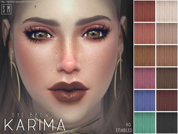 Sims 4 Karima Eye Brows by Screaming Mustard at TSR