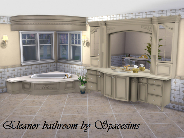Sims 4 Eleanor bathroom by spacesims at TSR