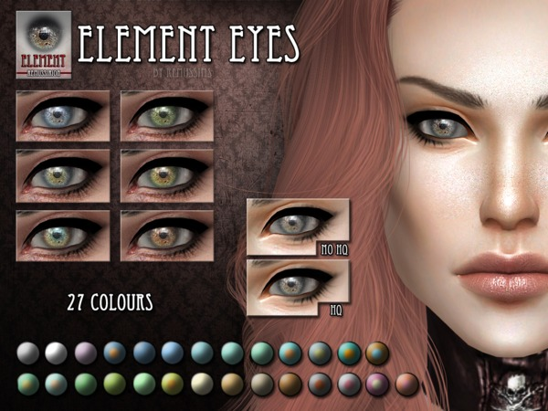 Sims 4 Element Eyes by RemusSirion at TSR