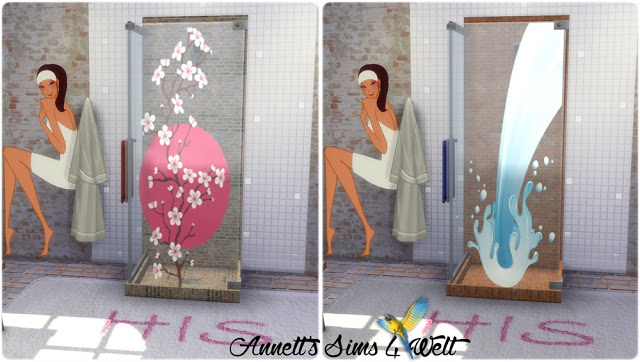 Shower with Pictures at Annett's Sims 4 Welt image 486 Sims 4 Updates