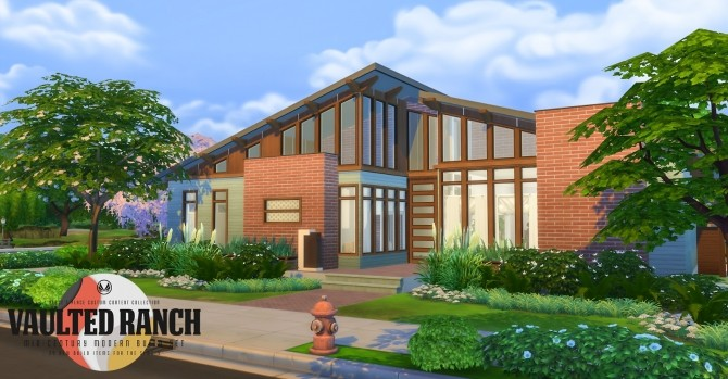 Vaulted Ranch An MCM Inspired Build Set at Simsational Designs image 494 670x349 Sims 4 Updates