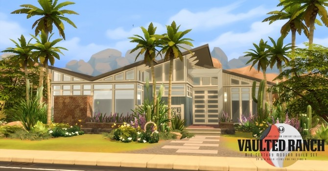 Vaulted Ranch An MCM Inspired Build Set at Simsational Designs image 497 670x349 Sims 4 Updates