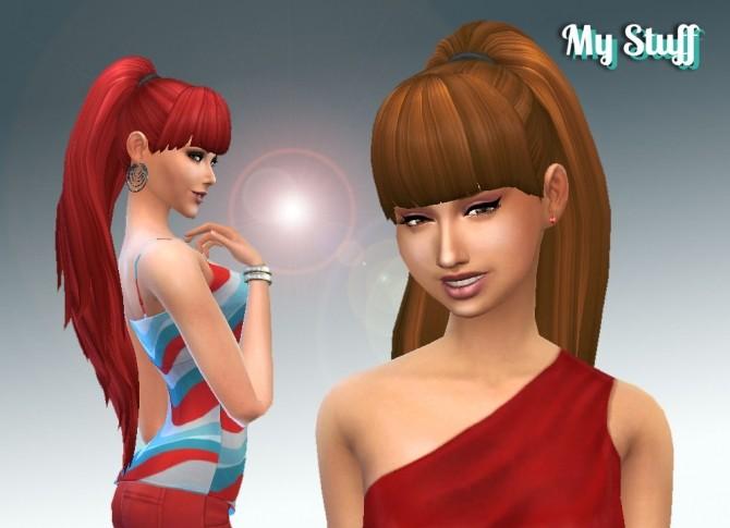 Sims 4 Ariana Ponytail by Kiara Zurk at My Stuff