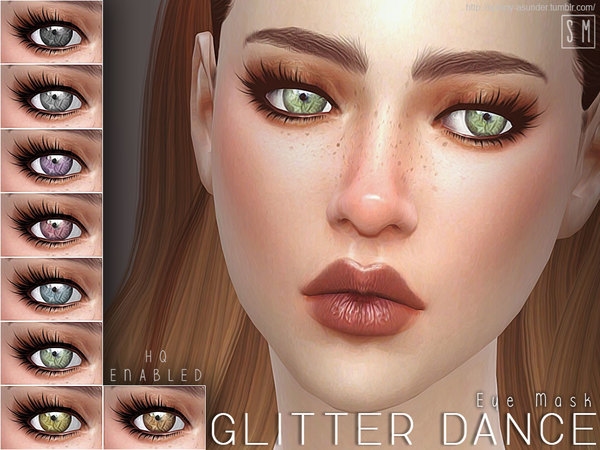 Sims 4 Glitter Dance Eye Mask by Screaming Mustard at TSR