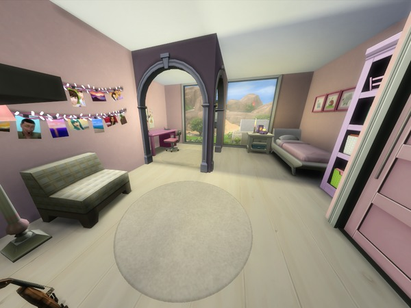 Sims 4 Little Luxury house by voaavoa at TSR