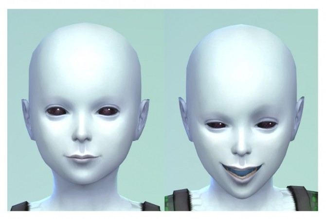 Alien Eye and Mouth Defaults by Menaceman44 at Mod The Sims image 541 670x452 Sims 4 Updates