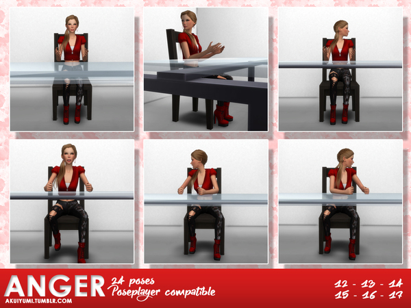 Anger Pose Pack 9 By Akuiyumi At Tsr 187 Sims 4 Updates