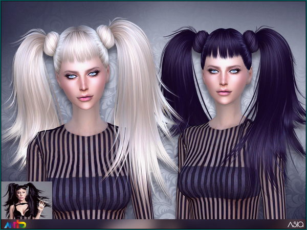 Sims 4 Asia Hair by Anto at TSR