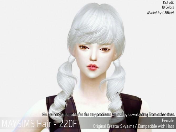 Sims 4 Hair 220F (SkySims) at May Sims