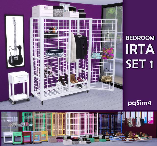 Sims 4 Irta bedroom set 1 by Mary Jiménez at pqSims4