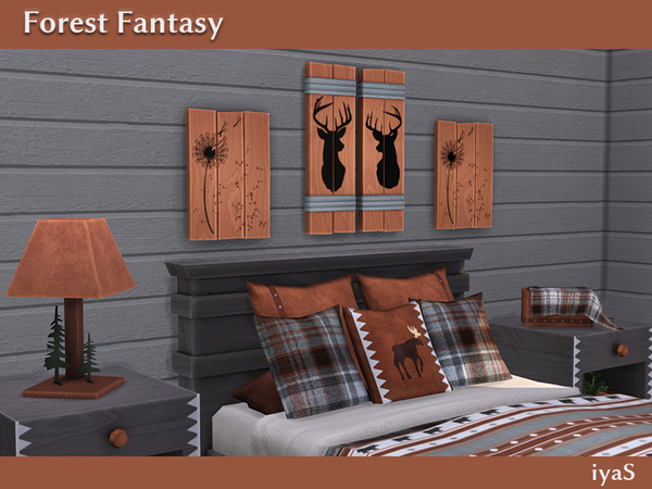 Forest Fantasy log cabin bedroom by soloriya at TSR image 5617 Sims 4 Updates