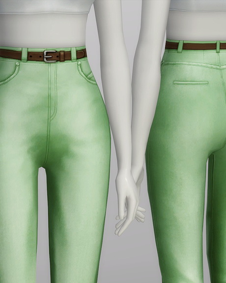 High waist jeans at Rusty Nail image 570 Sims 4 Updates