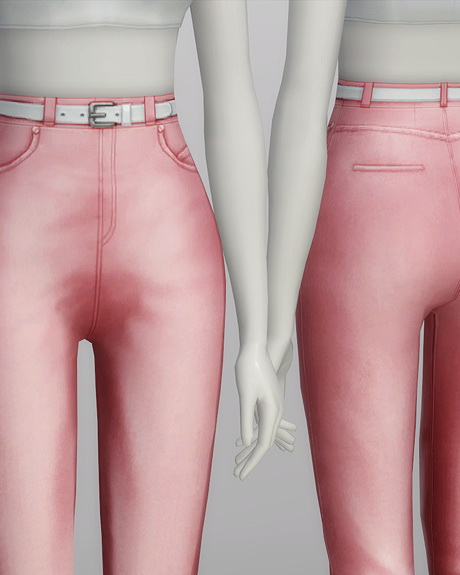 High waist jeans at Rusty Nail image 5711 Sims 4 Updates