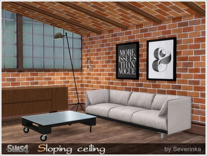 Sims 4 Sloping ceiling at Sims by Severinka