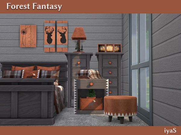 Forest Fantasy log cabin bedroom by soloriya at TSR image 5717 Sims 4 Updates