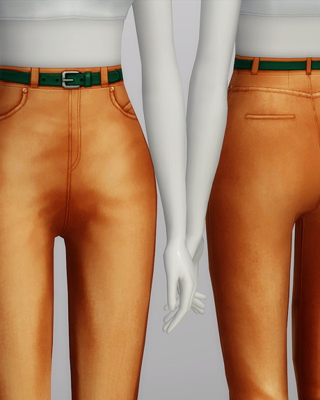 High waist jeans at Rusty Nail image 572 Sims 4 Updates