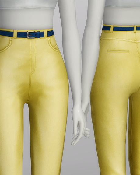 High waist jeans at Rusty Nail image 573 Sims 4 Updates