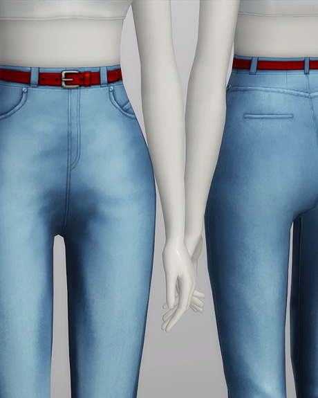 High waist jeans at Rusty Nail image 574 Sims 4 Updates